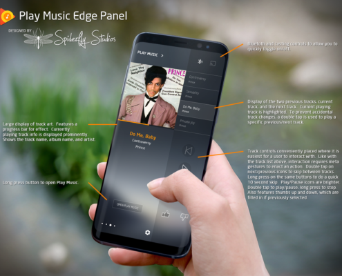 Play Music Edge Panel - Mockup