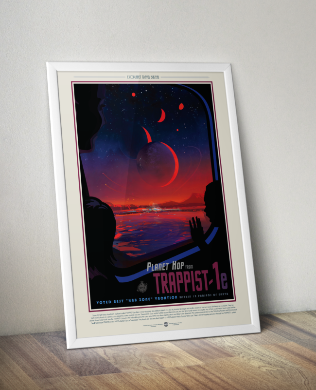 Retro Space Travel Posters - Trappist-1e