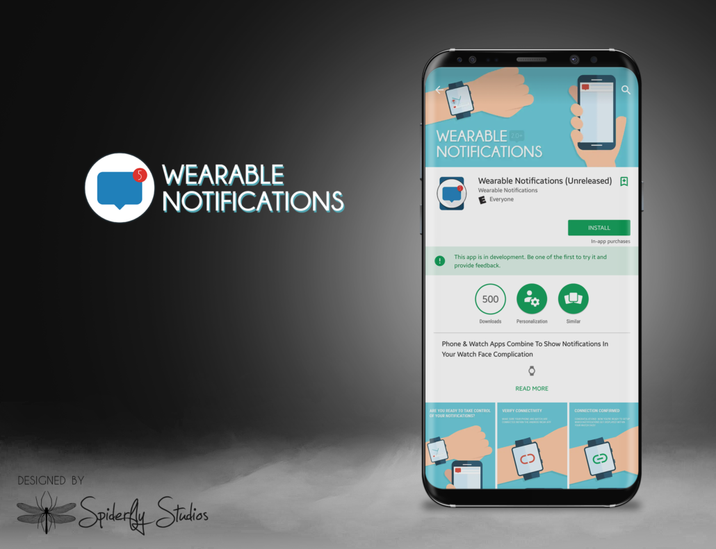 Wearable Notifications App Store Assets - Spiderfly Studios