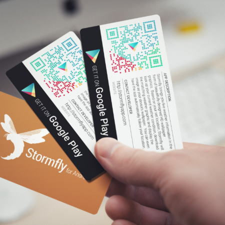 App Promo Business Cards Spiderfly Studios
