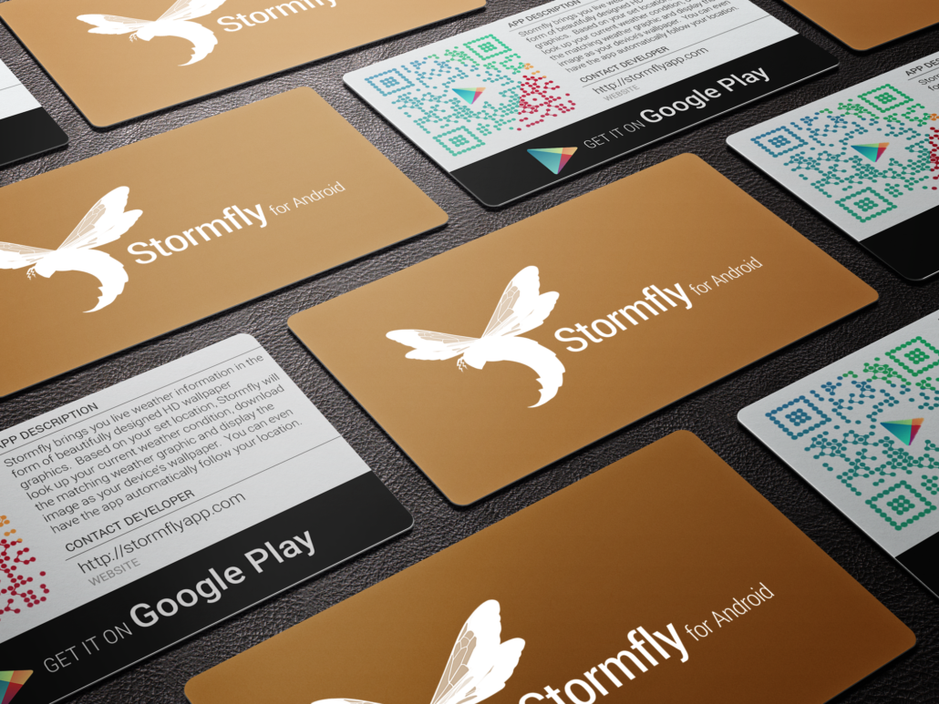 App Promo Business Cards – Spiderfly Studios