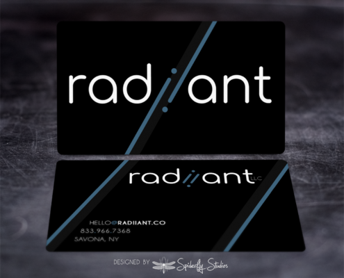 Radiiant Business Cards - Spiderfly Studios