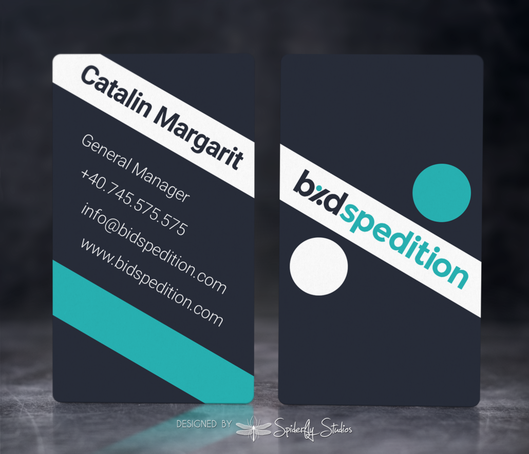 Bid Spedition Business Cards - Spiderfly Studios