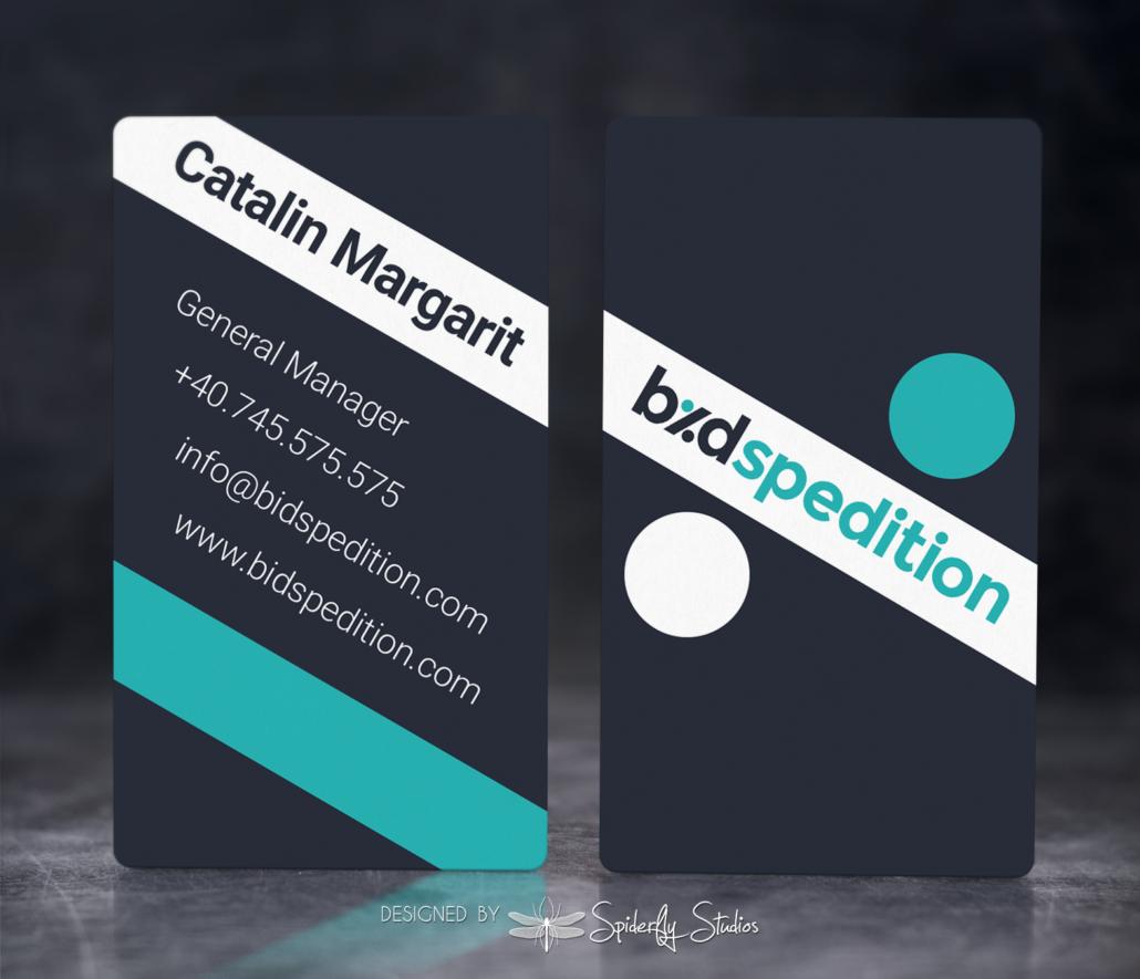 Bid Spedition Business Cards – Spiderfly Studios