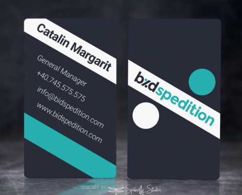 Bid Spedition Business Cards - Spiderfly Studios