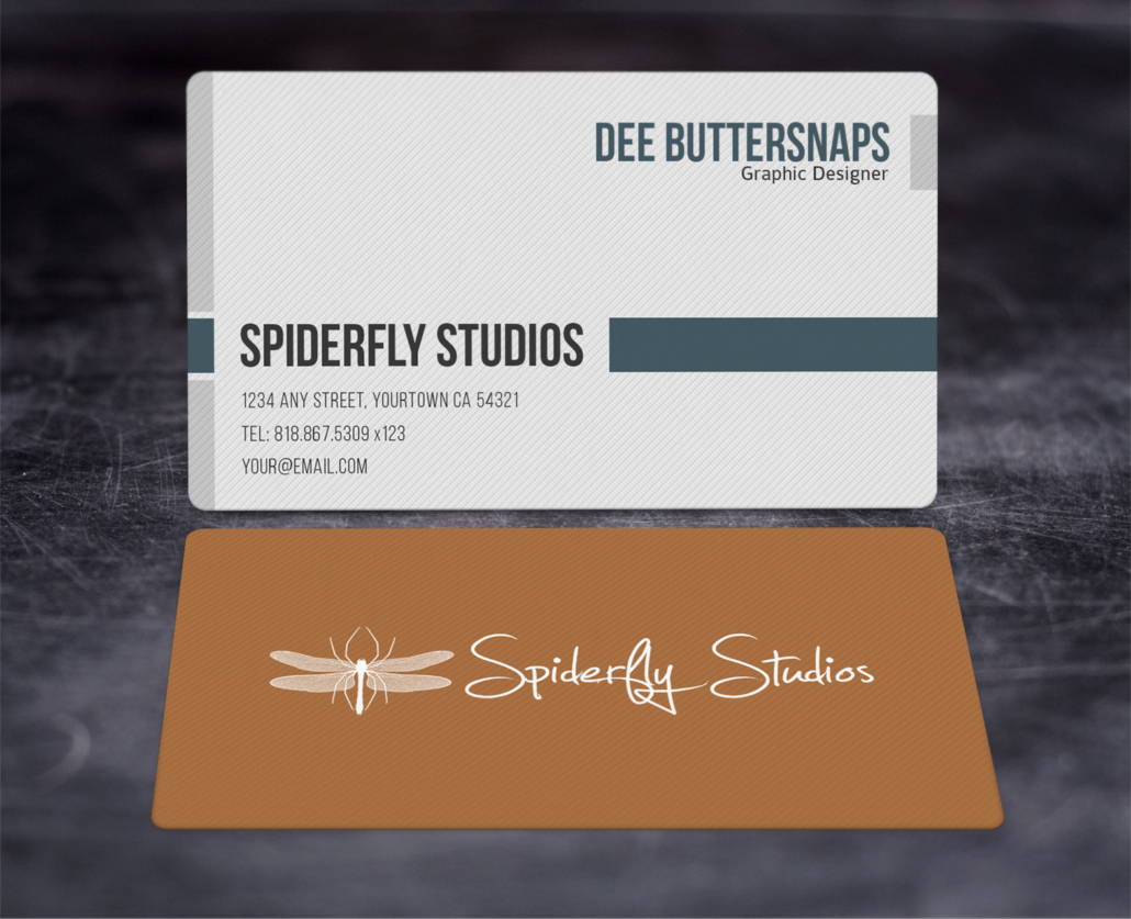 Modern Corporate Business Cards – Spiderfly Studios