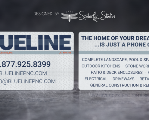 Blue Line Pools Business Card - Spiderfly Studios
