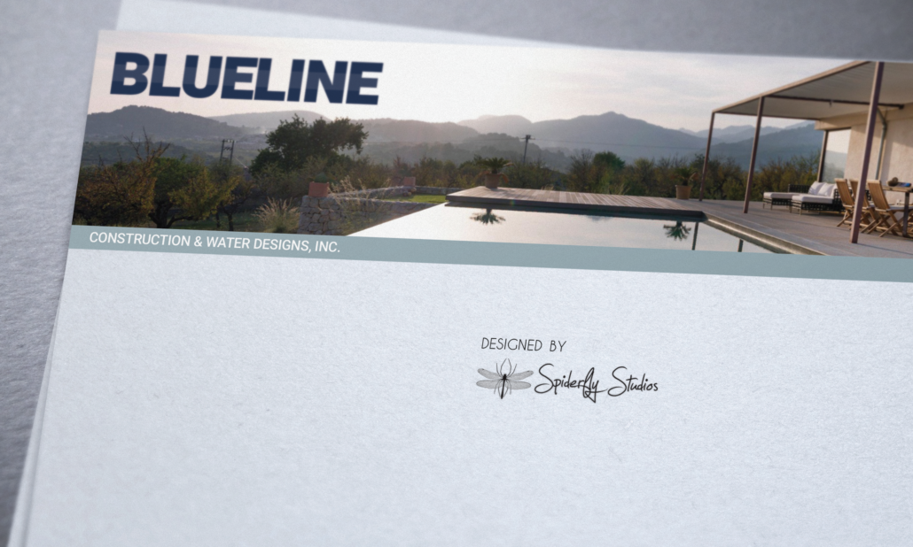 Blue Line Pools Letterhead - Spiderfly Studios