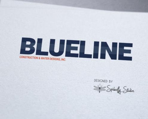 Blue Line Pools Logo - Spiderfly Studios