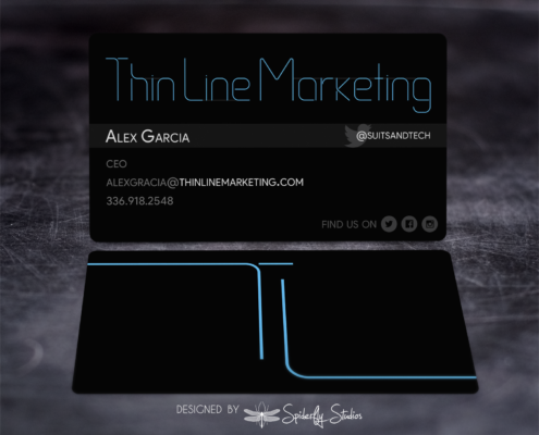 Thin Line Marketing Business Card