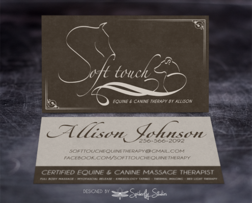 Soft Touch Business Cards - Spiderfly Studios