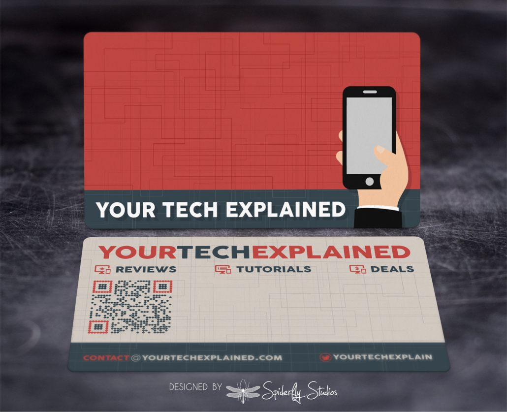 Your Tech Explained Business Card – Spiderfly Studios