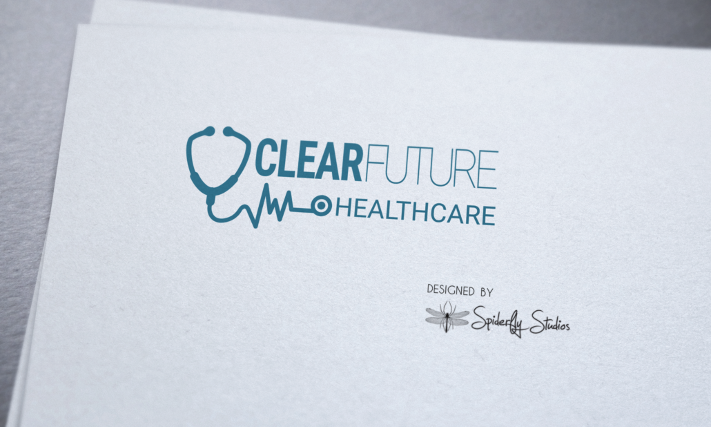 Clear Future Healthcare Logo - Spiderfly Studios