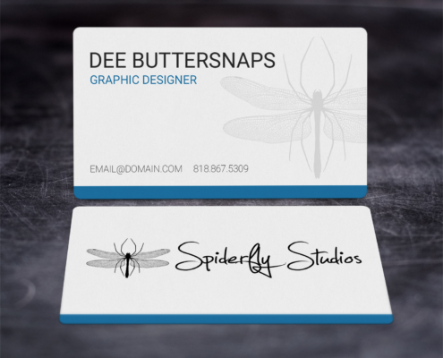 Creative Corporate Business Cards - Blue