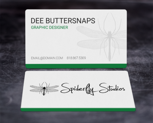 Creative Corporate Business Cards - Green