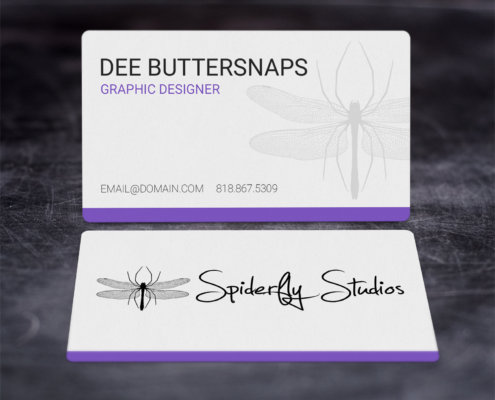 Creative Corporate Business Cards - Purple