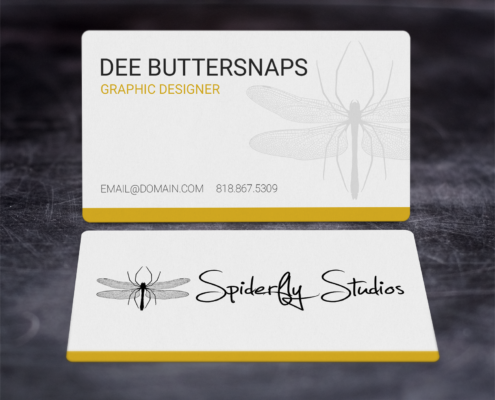 Creative Corporate Business Cards - Yellow