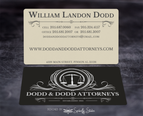 Dodd & Dodd Attorneys Business Cards - Spiderfly Studios