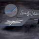 Painted EDGE Business Card - Blue