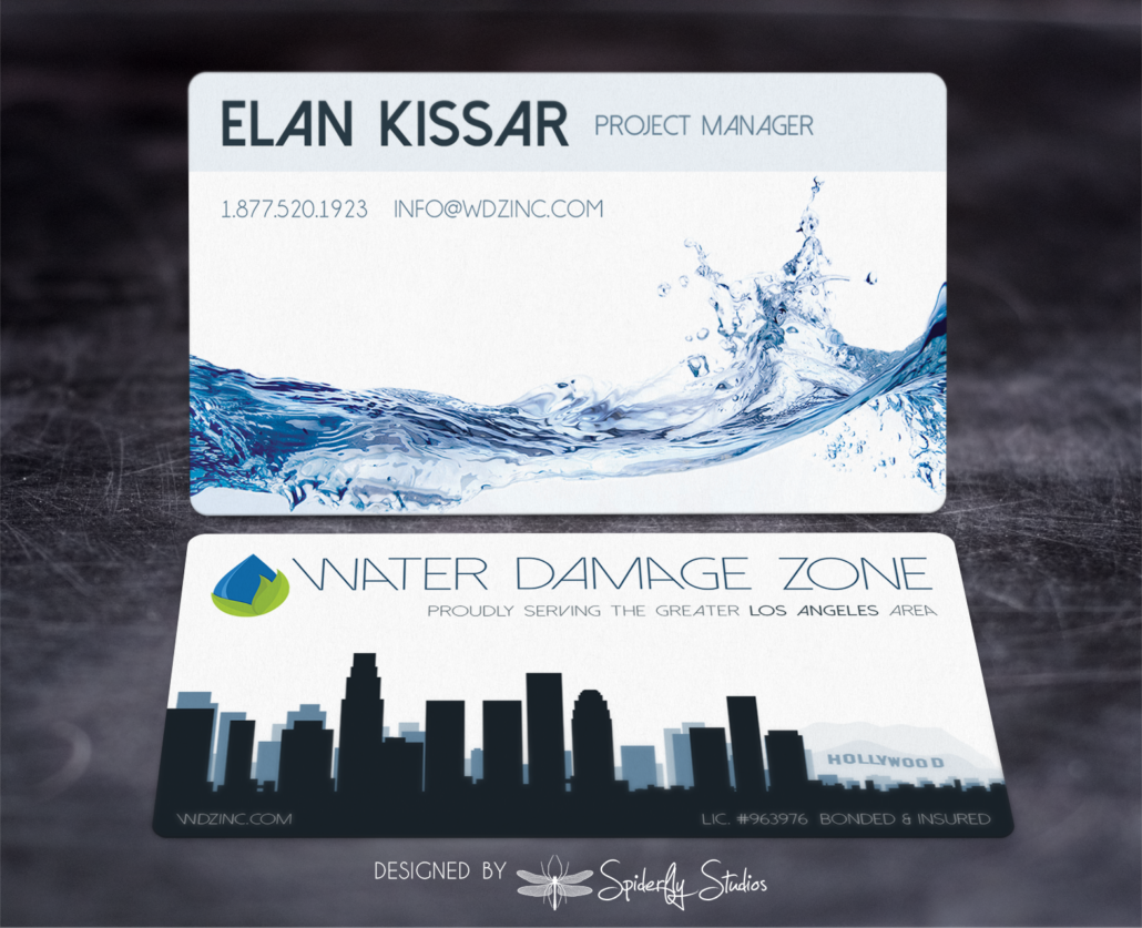 Water damage zone business cards spiderfly studios water damage zone business cards spiderfly studios colourmoves