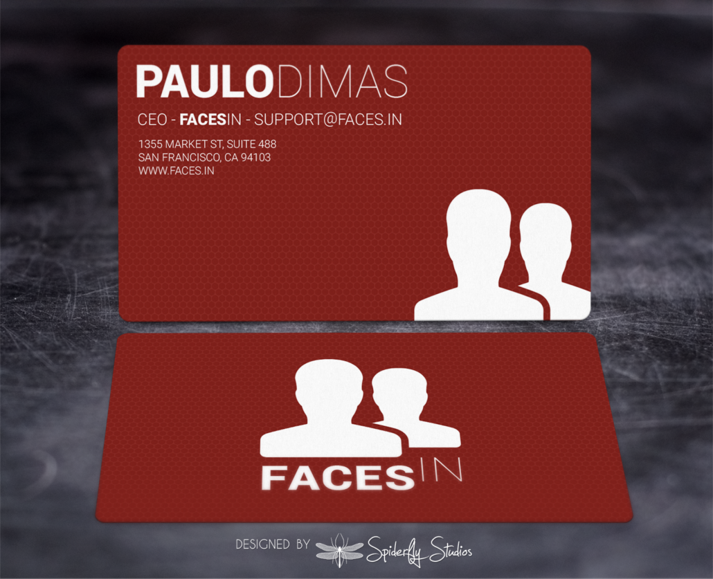FacesIn Business Cards - Spiderfly Studios