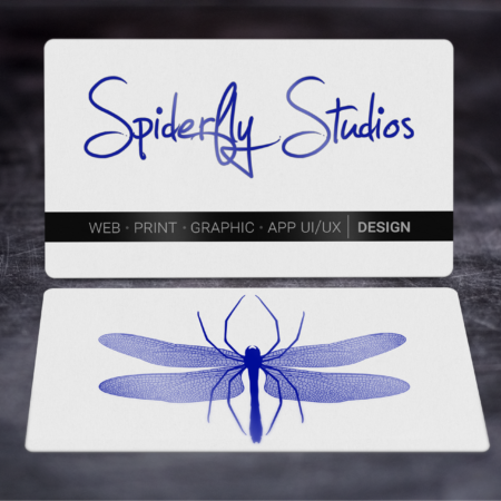 Foil Stamped Business Cards - Blue