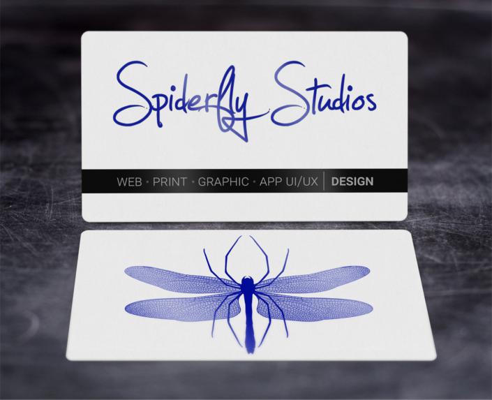 Foil Stamped Business Cards - Blue