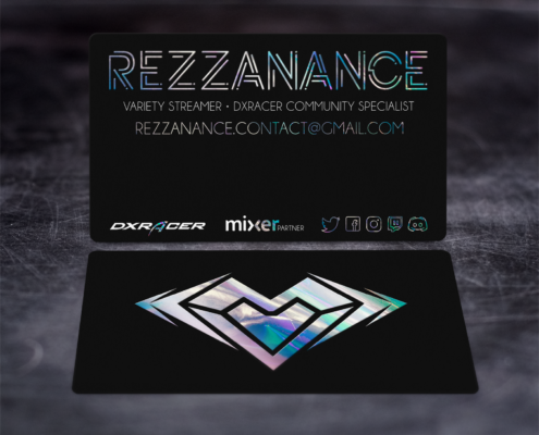 Rezzanance Business Card - Spiderfly Studios