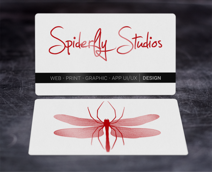 Foil Stamped Business Cards - Red