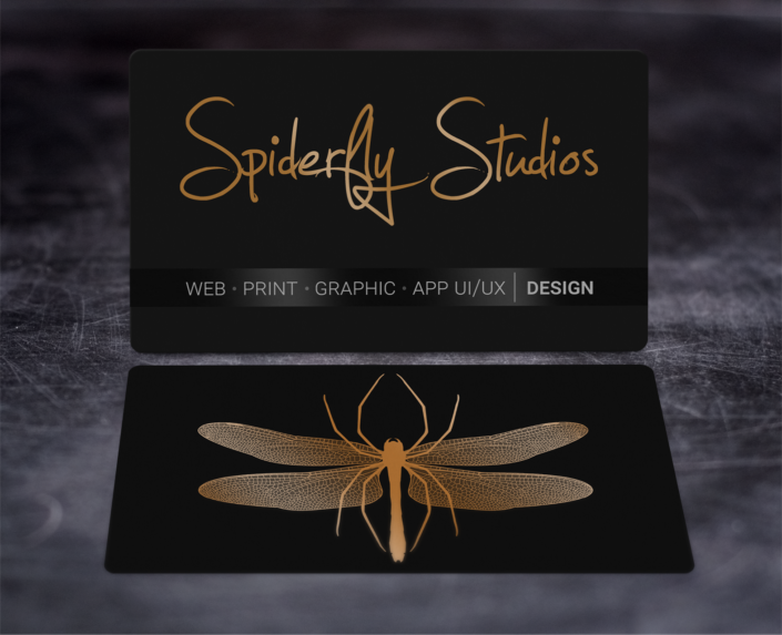 Foil Stamped Business Cards - Copper