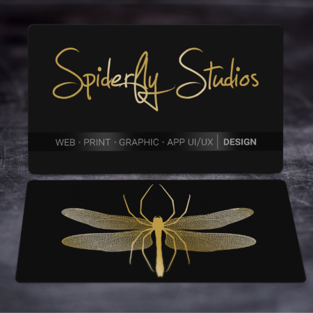 Foil Stamped Business Cards - Gold