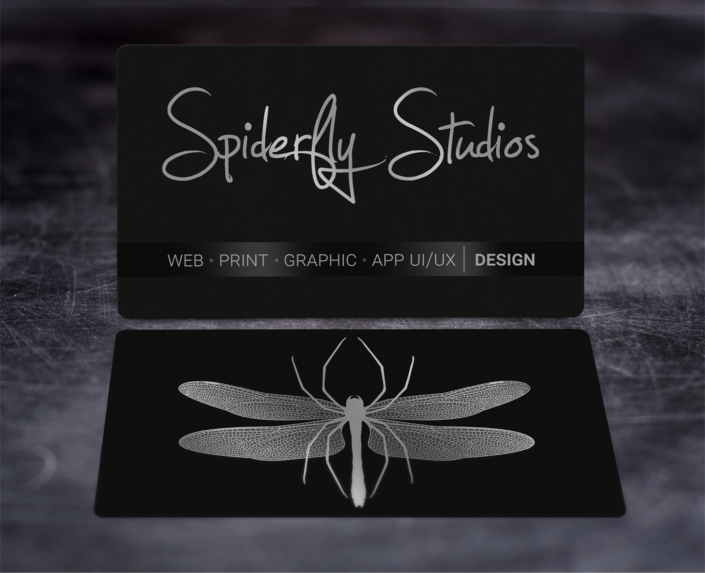 Foil Stamped Business Cards - Silver