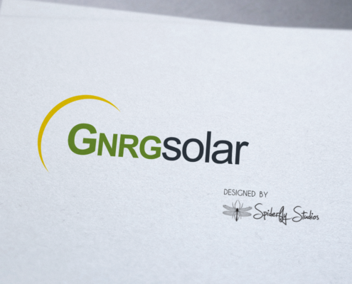 GNRGsolar Logo - Spiderfly Studios