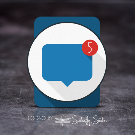 Wearable Notifications Launcher Icon - Spiderfly Studios