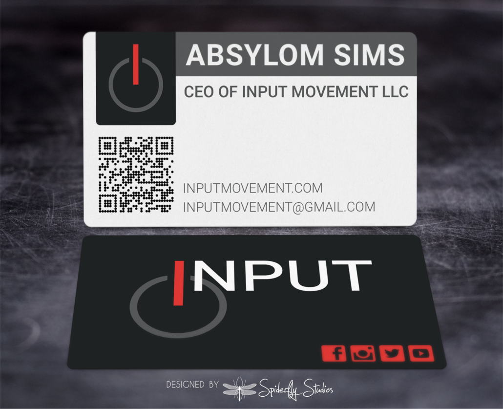 Input Movement Business Cards