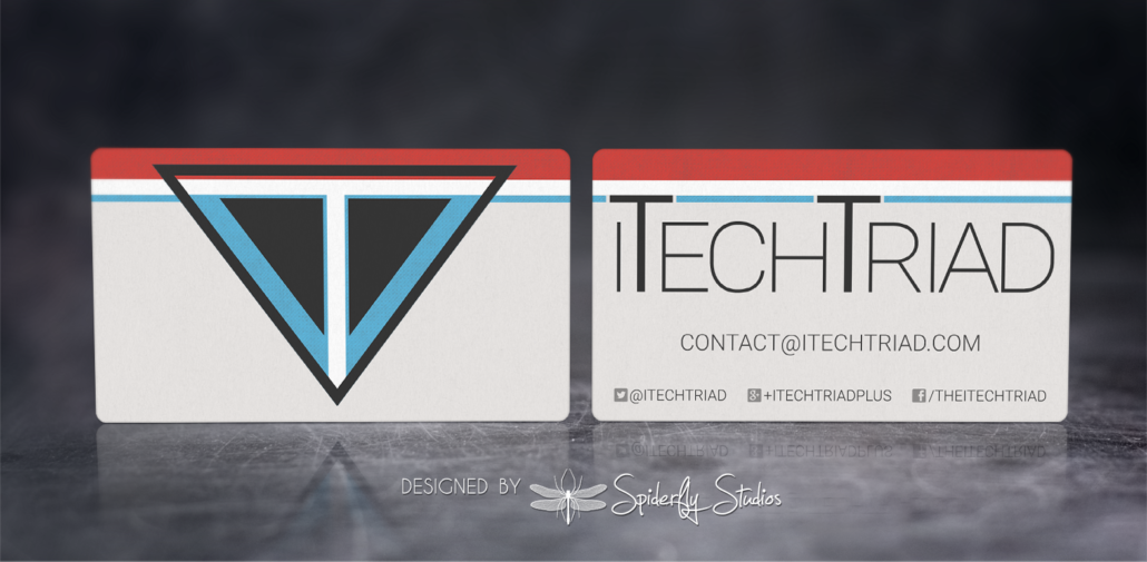 iTechTriad Business Cards - Spiderfly Studios