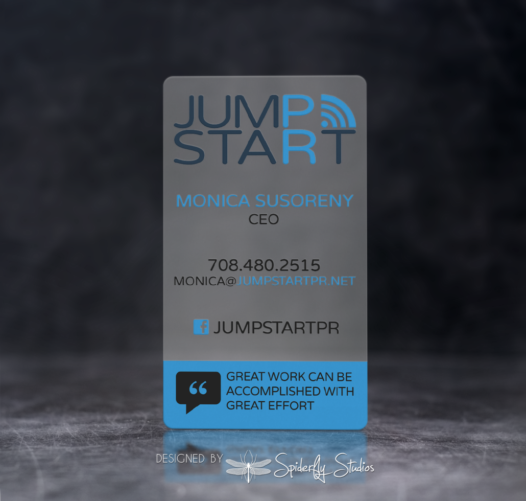 JumpStart PR Business Cards - Spiderfly Studios