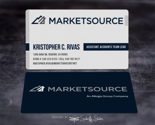 MarketSource Business Cards - Spiderfly Studios