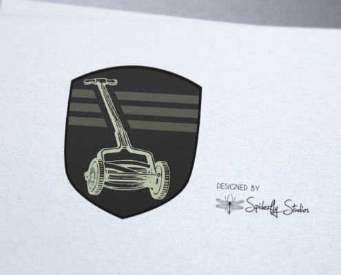 Amar Lawnmower Shop - Logo Design - Spiderfly Studios
