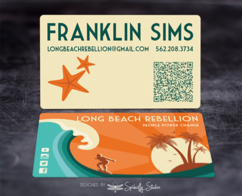 Long Beach Rebellion Business Cards - Spiderfly Studios
