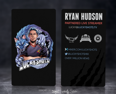 Luckyshots Business Cards - Spiderfly Studios