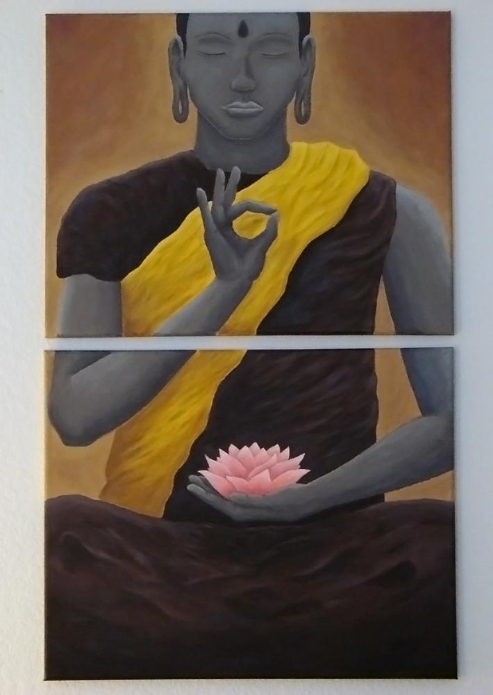 Meditating Buddha Painting - Spiderfly Studios