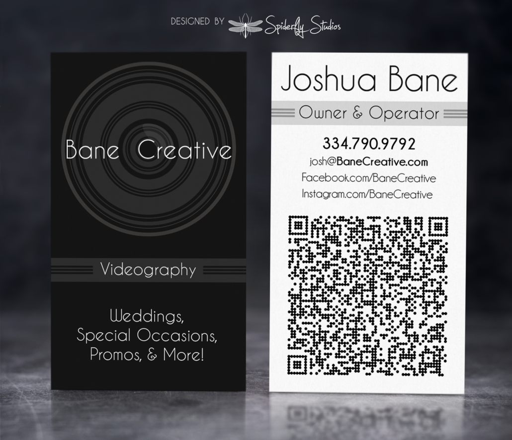 Bane Creative Business Card - Spiderfly Studios