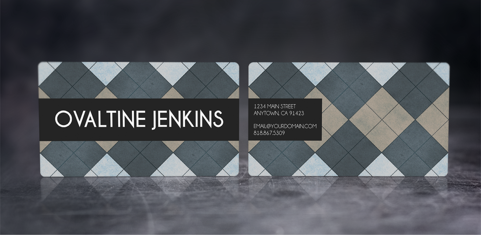 Argyle Business Cards - Alternate Layout