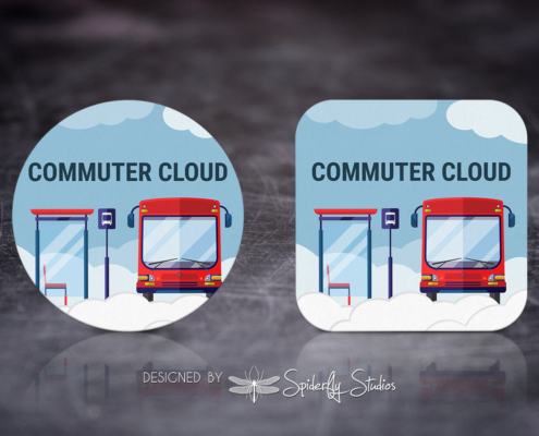 Cloud Commute Launcher Icon - Spiderfly Studios