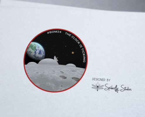 Moon Base Logo Concept - Spiderfly Studios