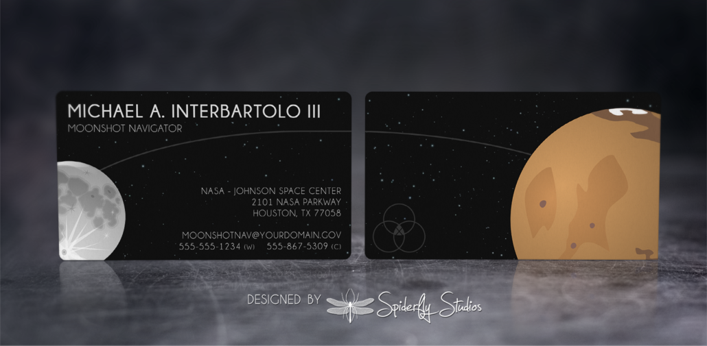 Moonshot NASA Business Cards – Spiderfly Studios