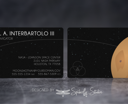 Moonshot NASA Business Cards