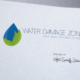 Water Damage Zone Logo - Spiderfly Studios