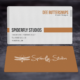 Clean Corporate Business Cards - Orange
